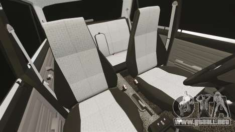 El USO de-Lada 2107 para GTA 4 vista superior