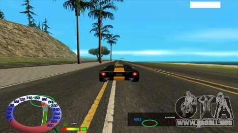 El límite de velocidad para SAMP para GTA San Andreas segunda pantalla