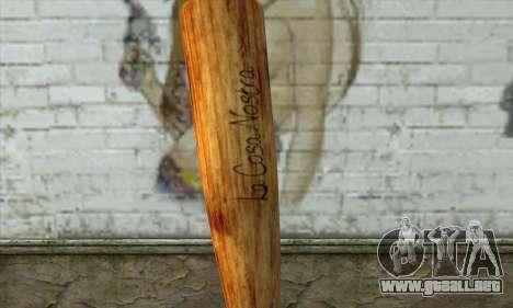 LCN Baseball bat para GTA San Andreas segunda pantalla