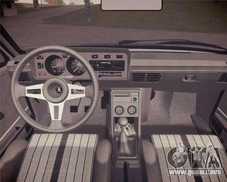 Volkswagen Scirocco S (Typ 53) 1981 HQLM para GTA San Andreas vista hacia atrás