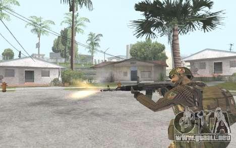 AK-101 para GTA San Andreas sucesivamente de pantalla