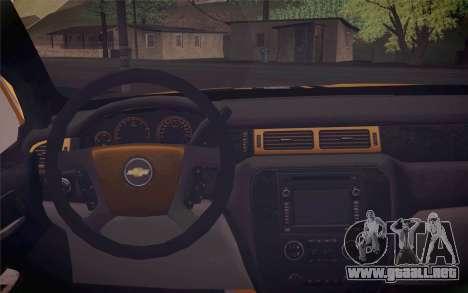 Chevrolet Silverado 2500 LTZ para la visión correcta GTA San Andreas