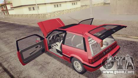 Honda Civic Si 1986 HQLM para vista inferior GTA San Andreas