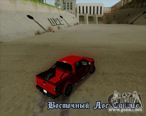 Ford F-150 para vista lateral GTA San Andreas