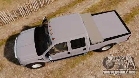 Ford F-250 Super Duty Police Unmarked [ELS] para GTA 4 visión correcta