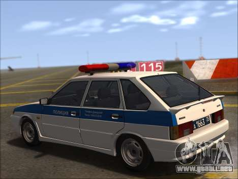 VAZ 2114 Policía DPS para la vista superior GTA San Andreas