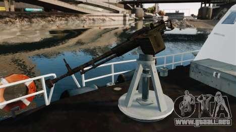 Канонерская barco U.S. Coastguard para GTA 4 vista hacia atrás