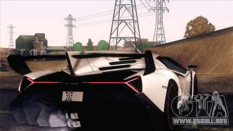 Lamborghini Veneno Roadster LP750-4 2014 para visión interna GTA San Andreas