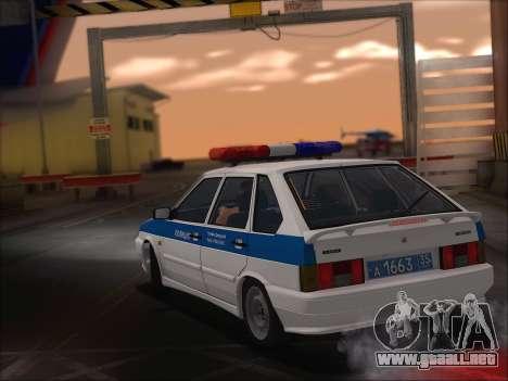 VAZ 2114 Policía DPS para visión interna GTA San Andreas