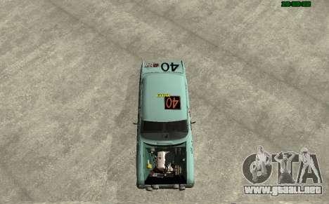 Moskvich 412 Rally para GTA San Andreas vista posterior izquierda