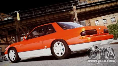 Nissan 240sx Dolor de 1992 para GTA 4 vista hacia atrás
