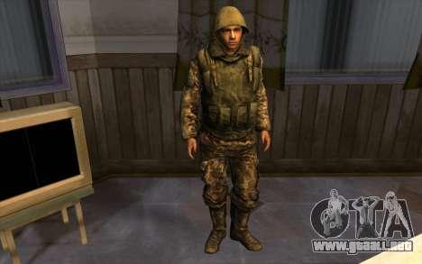Los soldados de la SA y la de la guardia Naciona para GTA San Andreas sucesivamente de pantalla