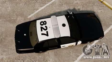 Ford Crown Victoria 2008 LCHP [ELS] para GTA 4 visión correcta