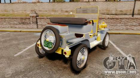 Ford Model T 1910 para GTA 4 Vista posterior izquierda