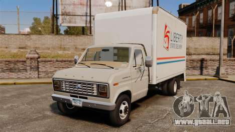 Ford E-350 1988 cube truck para GTA 4