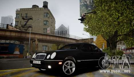 Mercedes-Benz E280 Beta para GTA 4 vista hacia atrás