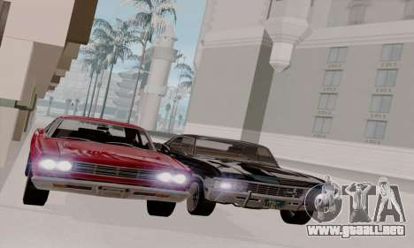 Plymouth Road Runner 383 1969 para visión interna GTA San Andreas