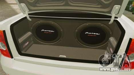 Vaz-2170 Lada Priora Luks para GTA 4 vista hacia atrás