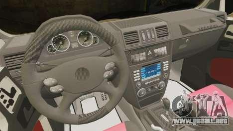 Mercedes-Benz G63 AMG 6x6 para GTA 4 vista interior