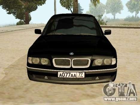 BMW 730 E38 para GTA San Andreas vista posterior izquierda