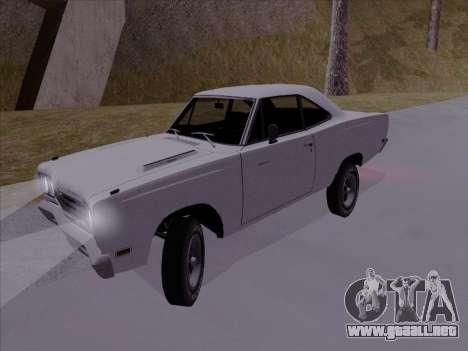 Plymouth Road Runner 383 1969 para GTA San Andreas vista posterior izquierda