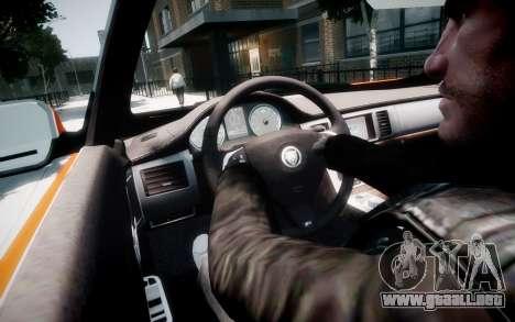 Jaguar XF-R 2012 v1.1 para GTA 4 interior