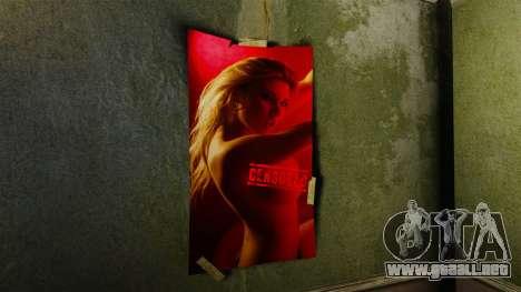 Nuevos carteles en el apartamento de la Novela para GTA 4 segundos de pantalla