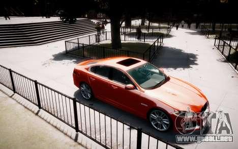 Jaguar XF-R 2012 v1.1 para GTA 4 vista hacia atrás