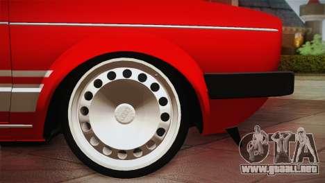 Volkswagen Golf MK1 Red Vintage para visión interna GTA San Andreas