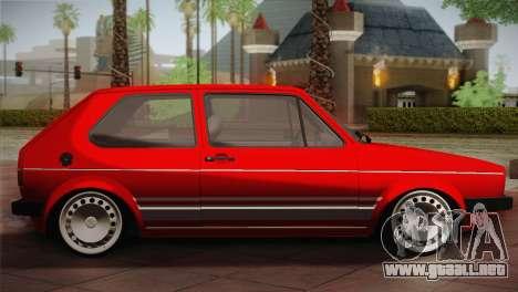 Volkswagen Golf MK1 Red Vintage para GTA San Andreas left