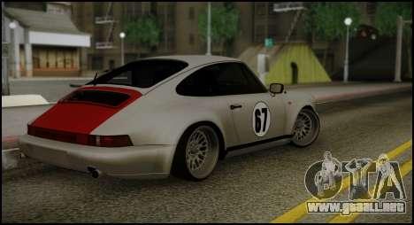 Porsche 911 para GTA San Andreas vista posterior izquierda