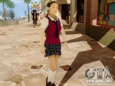 Hanako para GTA San Andreas tercera pantalla