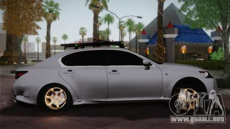 Lexus GS250 F para GTA San Andreas left