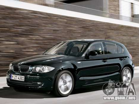 Inicio pantallas BMW 116i para GTA 4 novena de pantalla