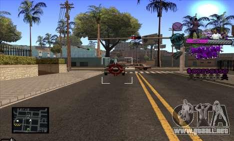 C-HUD Ballas Gang para GTA San Andreas quinta pantalla