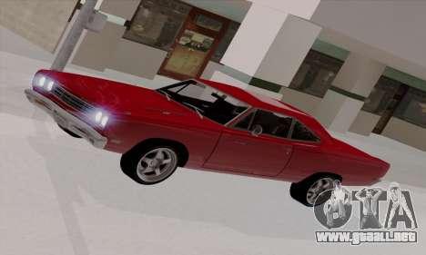 Plymouth Road Runner 383 1969 para GTA San Andreas interior