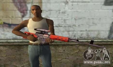 Rifle de Francotirador SVD para GTA San Andreas tercera pantalla