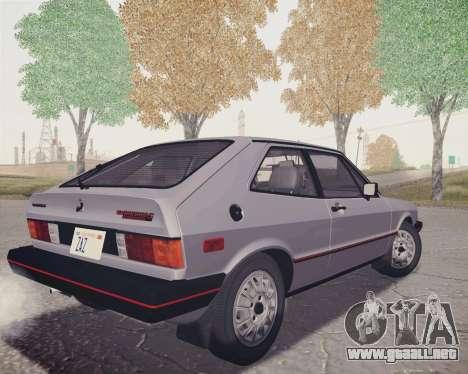 Volkswagen Scirocco S (Typ 53) 1981 HQLM para GTA San Andreas left