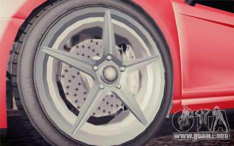 GTA 5 Obey 9f para GTA San Andreas vista posterior izquierda
