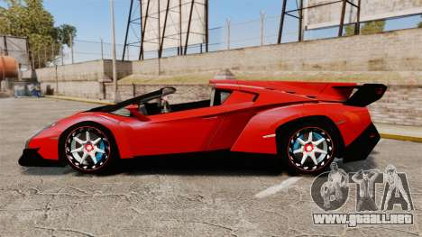 Lamborghini Veneno Roadster LP750-4 2014 para GTA 4 left