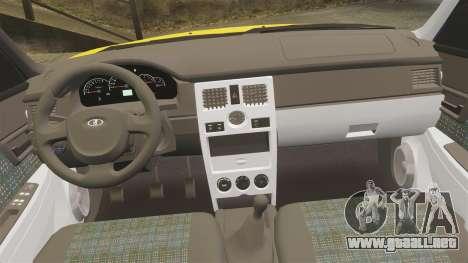 VAZ-Lada Priora 2170 para GTA 4 vista superior