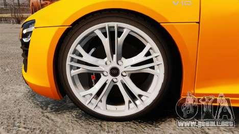 Audi R8 V10 plus Coupe 2014 [EPM] [Update] para GTA 4 vista hacia atrás