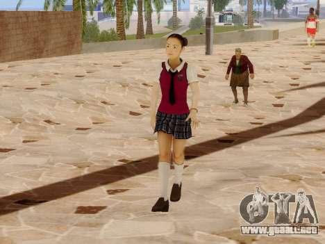 Hanako para GTA San Andreas sucesivamente de pantalla