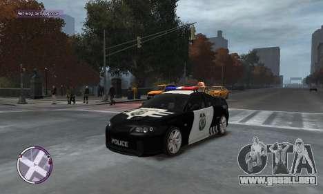 Holden Monaro CV8-R Police para GTA 4 left