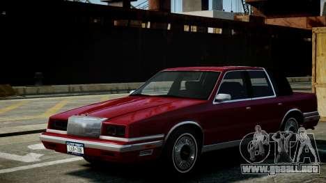 Chrysler New Yorker 1988 para GTA 4 vista interior