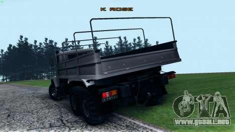 Kraz 6322 para GTA San Andreas vista posterior izquierda