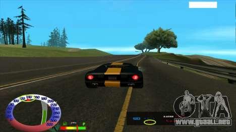 El límite de velocidad para SAMP para GTA San Andreas tercera pantalla