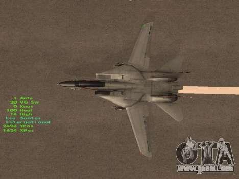 F-14 LQ para la vista superior GTA San Andreas