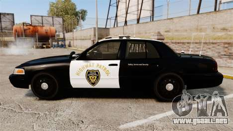 Ford Crown Victoria 2008 LCHP [ELS] para GTA 4 left