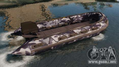 US Navy SEAL Zodiac para GTA 4 left